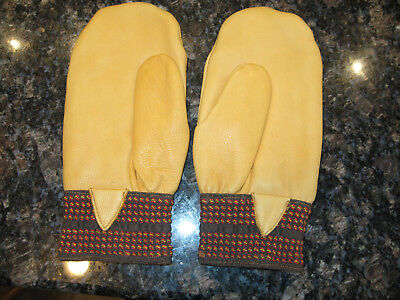 Men's Mittens Deerskin Large Handsewn with Lining