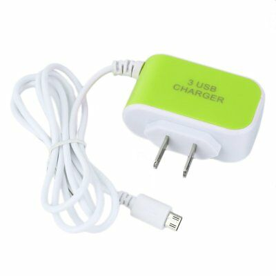 Three Ports Home Charger With V8 Cable US Standard For iPhone/Samsung Phone SA