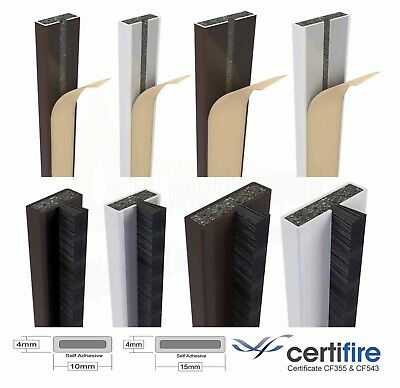 Intumescent Fire and Smoke Seal Door Strip Set Self Adhesive Certifire Approved