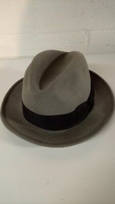 MEN S VINTAGE BARLESONI Fedora Hat Made of Imported Furs-Gray-Size 7 ... 0044f3a1bbd