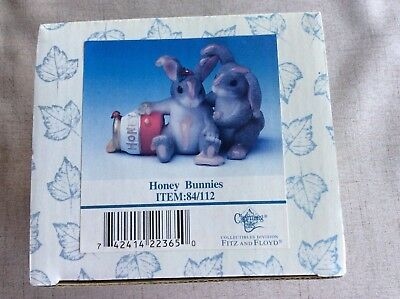 """Charming Tails """"Honey Bunnies"""" Figurine By Fitz and Floyd - Item:84/112"""