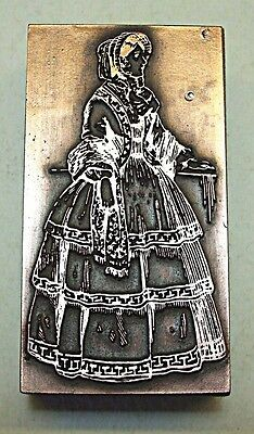 "Fashionable ""victorian Lady"" Printing Block."
