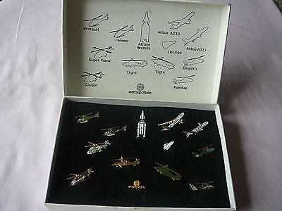 "Coffret de pin's  AEROSPATIALE  "" Eurocopter """