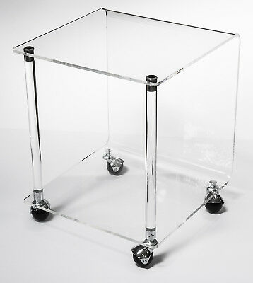 Vintage Architectural Mid-Century Modern Geometric Acrylic Lucite Table