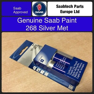 GENUINE SAAB Touch Up Paint. 268 Silver MET 12799108