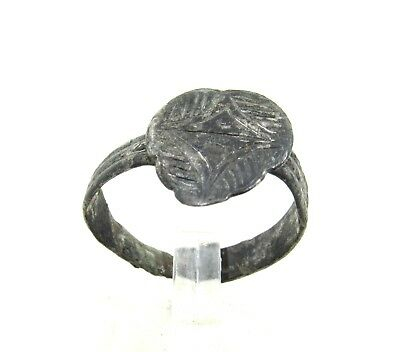 Authentic Crusaders Bronze Ring W/ Star Of Bethlehem - Wearable - J93