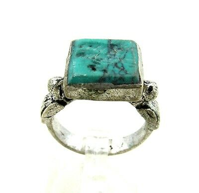 Authentic Post Medieval Silver Ring W/  Bird - Wearable - J94