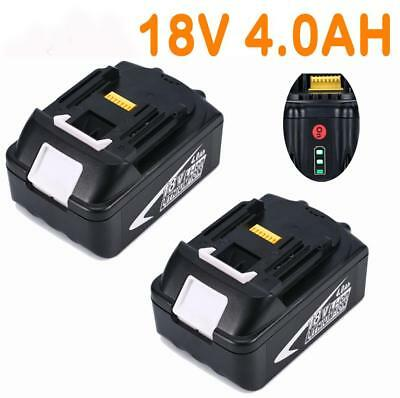 2x For Makita 18V 4.0AH BL1860 BL1850 BL1840 BL1830 Battery with Fuel Guage