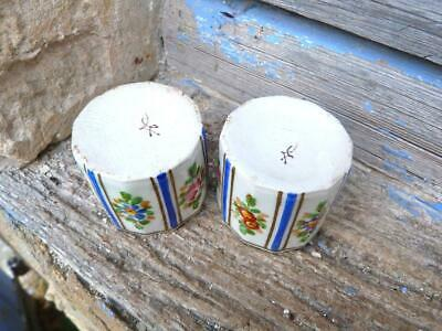 Antique 1890/1900 French Victorian porcelaine de Sevres cups /tumblers set of 2