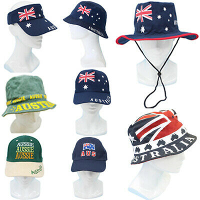 Adults Australia Day Caps Cotton Hats Summer Australian Souvenir ANZAC Day Gift