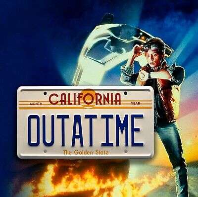 Back To The Future Inspired OUTATIME Usa METAL SIGN RETRO GARAGE BAR Man CAVE