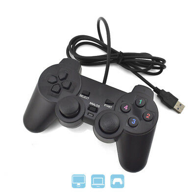 USB PC Computer Game Hand Wired Gamepad Controller Joystick Rocker For PS1 PC
