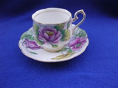 Royal Albert Flower of the Month #7 & 8 Poppy Water Lily Bone China Cup & Saucer