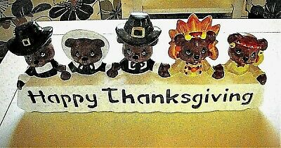 "Ceramic Bisque Hand-Painted Happy Thanksgiving Sign, 13"" Long"