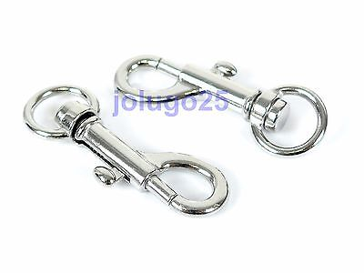 100 Metal Swivel Clasps Lobster Clasps Snap Clips For Paracord  #3748-100