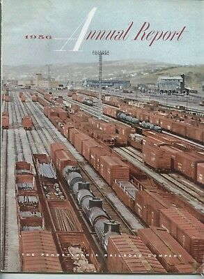 Pennsylvania Railroad 110th 1956 Annual Report with Statistical Review