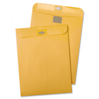 Quality Park Postage Saving Clear-Clasp Envelopes, 6 inches x 9, Kraft, 100 Coun