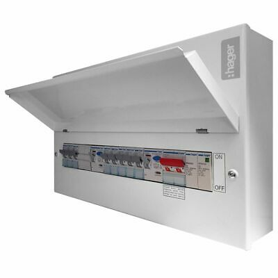 Hager VML910CUSPD 18th Edition 10 Way Dual RCD Surge Protection Consumer Unit