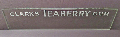 Vintage Advertising-CLARK'S TEABERRY Chewing GUM-Store Display GLASS Signage