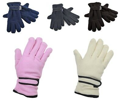 Boys Girls Thinsulate Thermal Lined Fleece Gloves Winter Warm Childrens Kids