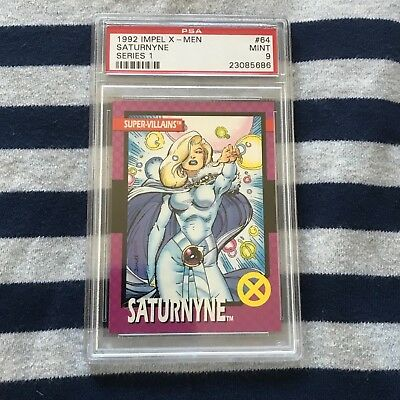 PSA mint 9 SATURNYNE x-men JIM LEE ART 1992 trading cards series 1 marvel graded