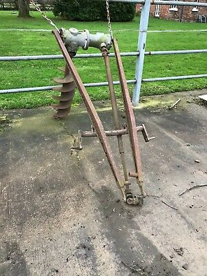 Tractor driven post hole borer,collection only.