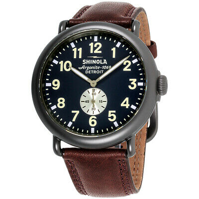 874005a414e Shinola The Runwell Midnight Blue Dial Leather Strap Men s Watch S0120065287