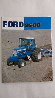 Ford 9600 tractor brochure New Holland USA