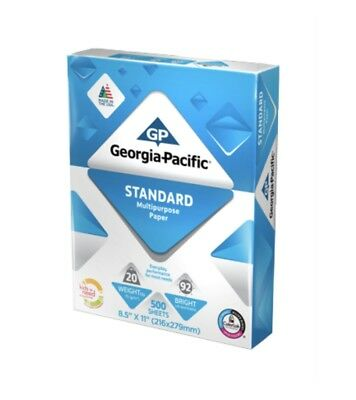 "Georgia-Pacific Standard Copy Paper 8.5"" x 11"", 20lb,  92 Bright, 500 Sheets"