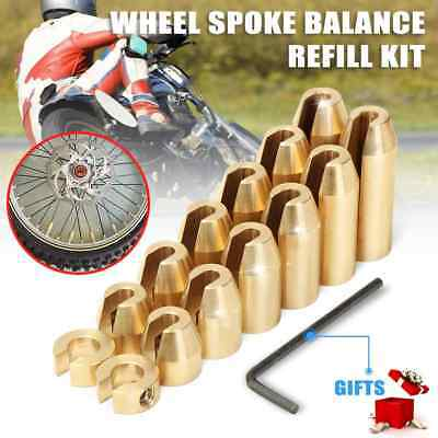 Motorbike Brass Reusable Wheel Spoke Weights Balancers Refill Kit For KTM Suzuki