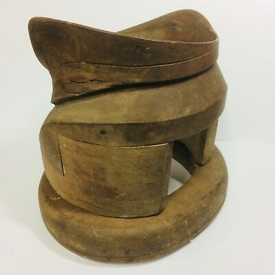 Rare *Victorian * MILLINERS HAT MAKING Stand EQUIPMENT * Wooden 2 Parts