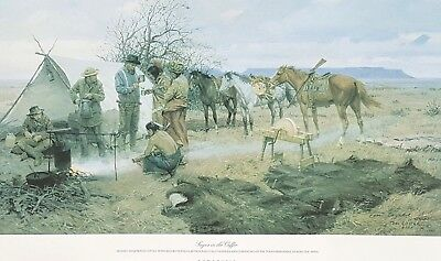 Tom LOVELL Ltd Ed SIGNED PRINT ~ Sugar in the Coffee ~ Comanche Cowboy Horse