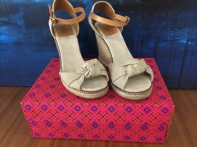a2db22854e98 ... Beige Canvas Leather Wedge Espadrille Sandal Gold Wash Shoe 10.  60.00  Buy It Now or Best Offer 7d 15h. See Details. Tory Burch Macy High Wedge ...