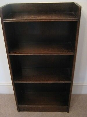"""Old Solid Wood Bookcase 34"""" High 18"""" Wide"""