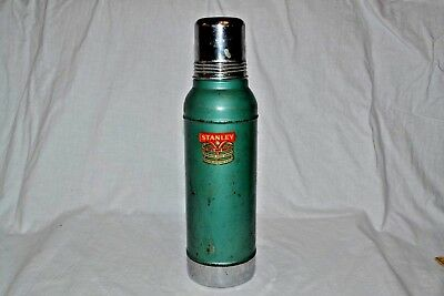 Vintage Stanley Super Vac Stainless Steel Lined Thermos with Cork USA 3-56 D944