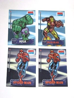 2001 Marvel Legends SECRET IDENTITY Insert 4 CARD LOT! IRON MAN! SPIDER-MAN!