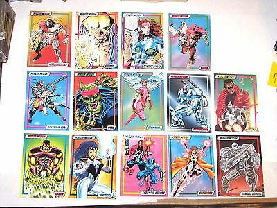1993 MARVEL GENE CARD Complete Set 14 Promo Cards (1-14) VHTF!! MARVEL UK! RARE!