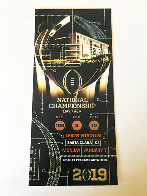 2019 NATIONAL CHAMPIONSHIP CFP Ticket REPLICA Great to Frame  BUY 1 GET 1 FREE !