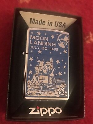 DeAgostini Collection Issue 5 Zippo Lighter MOON LANDING Brand New In Box