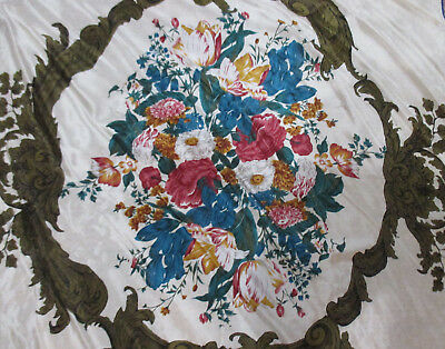 VINTAGE hand rolled SILK TUTOR FLORAL VIBE SQUARE SCARF 60s made in Japan 32x32