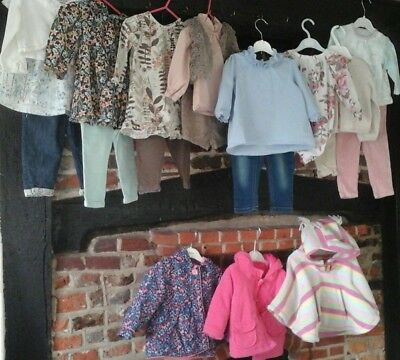 Baby girl clothes bundle 9-12 months mix & match outfits Jojo, M&S, Next & more