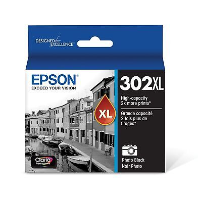 Epson T302XL120 Claria Premium High-Capacity Ink Cartridge - Photo Black NEW