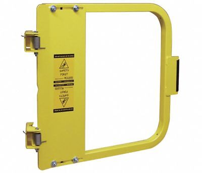 PS DOORS Carbon Steel Safety Gate,22-3/4 to 26-1/2 In,Steel, LSG-24-PCY, Yellow