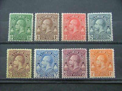 Turks & Caicos Islands KGV 1928 Issue to 1/- SG176-183 MM