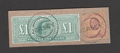 LOWDEN FORGERY OF THE £1 GREEN + genuine stamp: 'Aldred' Forgery of the Forgery!