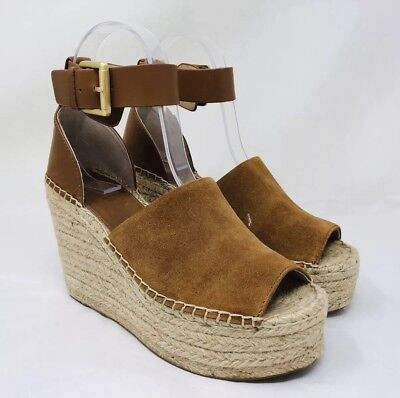 27f4be356eb8 Marc Fisher LTD Adalyn Espadrille Wedge Sandal Size 5.5 Tan  Saddle MSRP   160