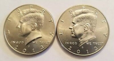 2013 P&d Kennedy Half Dollar - Two  Coins -  Free Shipping