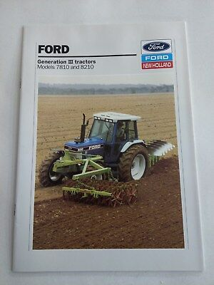 Ford New Holland 7810 8210 Force III tractor brochure