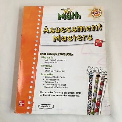 MCGRAW HILL MY Math Assessment Masters Grade 3 Common Core CCSD