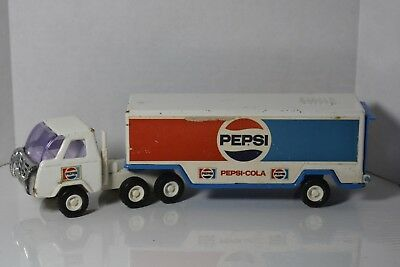 Buddy L Pepsi Cola Tractor Trailer Delivery Truck Toy Pressed Metal Vint. 1970's